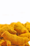Whole turmeric Stock Photography