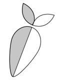 Whole turnip icon Stock Image