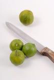 Whole Uncut Limes Stock Images