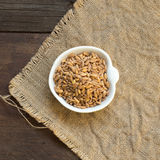 Whole unpolished spelt in a bowl Royalty Free Stock Photography