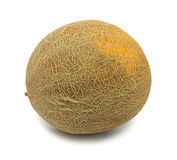 Whole uzbek yellow melon, isolated Royalty Free Stock Photography