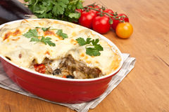 Whole Vegetarian Lasagna Stock Photo
