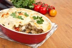 Whole Vegetarian Lasagna Stock Photo