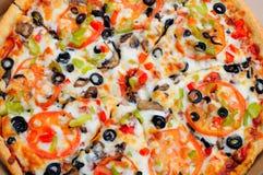 Whole Vegetarian Pizza Stock Photo