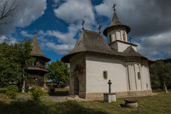 Whole view of the Church of the Holy Cross in Patrauti. In Bukovina, (Bucovina), Moldavia (Moldova Royalty Free Stock Image