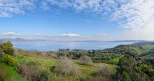 Whole view of Lake of Bracciano Royalty Free Stock Photos