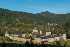 Whole view of Sucevița monastery. In Bukovina, (Bucovina), Moldavia (Moldova Royalty Free Stock Photography