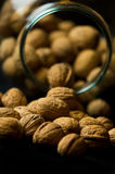 Whole Walnuts in Glass Jar Stock Photography