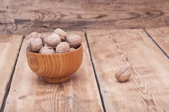 Whole walnuts Royalty Free Stock Photos