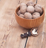 Whole walnuts Stock Photography