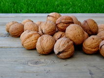 Group of whole walnuts Royalty Free Stock Image