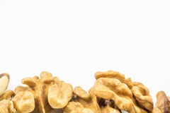 Whole walnuts on white backround Stock Photography