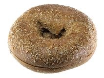 Whole Wheat Bagel Royalty Free Stock Photography