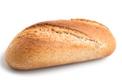 Whole Wheat Baguette Bun Stock Photo
