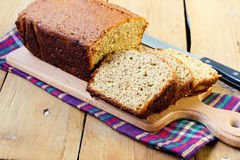 Whole wheat banana loaf Royalty Free Stock Image