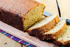 Whole wheat banana loaf Royalty Free Stock Photos