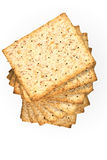 Whole wheat biscuits Royalty Free Stock Images