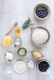 Whole Wheat Blueberry Pancakes Royalty Free Stock Photo
