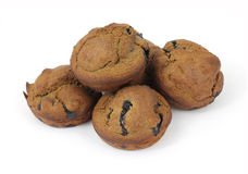 Whole Wheat Bran Blueberry Muffins Stock Photos