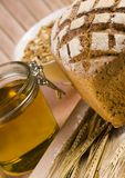 Whole wheat bread Stock Images