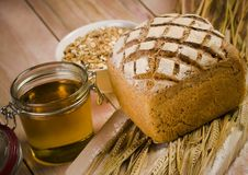 Whole wheat bread Stock Photos