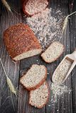 Whole wheat bread Stock Photography
