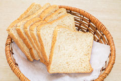 Whole wheat bread in basket Stock Image