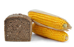 Whole wheat bread with corn Stock Photos