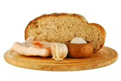 Whole Wheat Bread, Fat And Salt Royalty Free Stock Photos