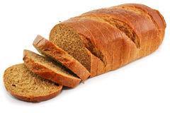 Whole wheat bread isolated. On a white background Stock Photography