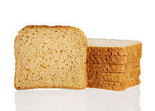 Whole wheat bread isolated on white Stock Photo
