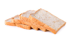 Whole wheat Bread isolated on the white background Royalty Free Stock Images