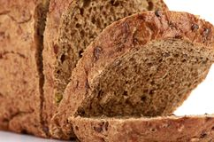 Whole wheat bread, isolated on white background Stock Photography