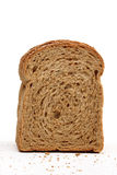 Whole wheat bread.JPG. Whole wheat bread texture isolated on white background Royalty Free Stock Photo