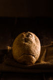 Whole Wheat Bread. On Jute Napkin Stock Image
