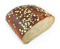 Whole Wheat Bread Loaf. Loaf of whole wheat bread isolated on white Royalty Free Stock Photos