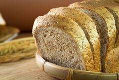 Whole wheat bread loaf Royalty Free Stock Photography