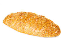 Whole wheat bread, long loaf Royalty Free Stock Images