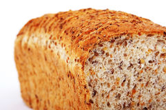 Whole wheat bread with rye grains. Wheat whole bread with rye grains Stock Image