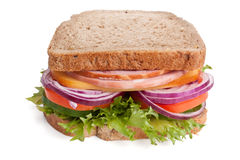 Whole Wheat Bread Sandwich Royalty Free Stock Image