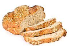 Whole wheat bread with sliced Royalty Free Stock Photo
