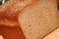 Whole Wheat Bread Sliced Stock Photo