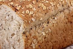 Whole wheat bread sliced Stock Image