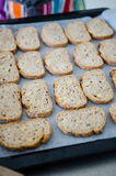 Whole wheat bread slices Royalty Free Stock Photography