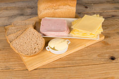 Cheese and ham sandwich Stock Photos