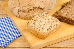 Whole wheat bread still life Stock Images
