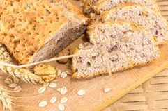 Whole wheat bread with walnuts Stock Photo