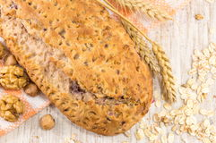 Whole wheat bread with walnuts Royalty Free Stock Photography