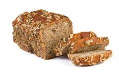 wheat bread on white background stock photos
