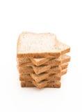 Whole wheat bread on white Stock Photos